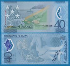 Solomon Islands 40 Dollars P New 2018 Polymer Commemorative UNC Low Shipping!