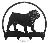 English Bulldog Metal Key or Leash Hanger *NEW*