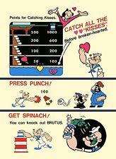 Arcade Nintendo Popeye Card & Coin Set