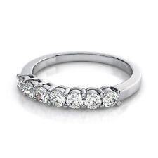 0.95ct Round Cut Brial Promise Engagement Wedding Band 14K White Gold
