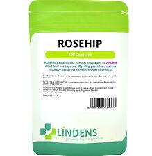 Rosa Mosqueta 2000mg cerebro & Articulaciones 100 cápsulas Lindens Rosehip antocianina