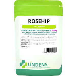 Rosehip 2000mg Brain & Joints 100 capsules Rosehip Anthocyanin Lindens