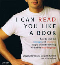 I Can Read You Like A Book 3CD Audiobook - Karinch/Hartley - NEW - FREE SHIPPING