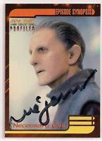 Star Trek Signed Card Auto DS9 Profiles Odo Rene Auberjonois v49