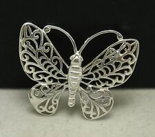 STERLING SILVER BROOCH SOLID 925 BUTTERFLY NEW FILIGREE