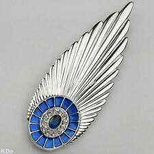 "Erté ""PLUME"" Limited Edition Pendant/Brooch, SS & Synthetic Sapphires, #/Signed"