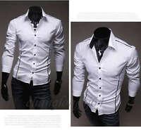 KCT79 New Mens Luxury Casual Slim Fit Stylish Dress Shirts 3 Colors