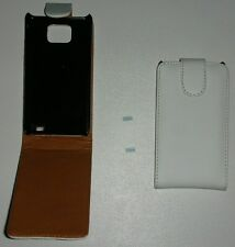 Cover case custodia pelle bianca bianco per Samsung i9100 Galaxy II 2 S2 2S 9100