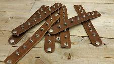 singleMetal Stud Spike Rivet Leather Bangle Cuff Bracelet Wristband /made in USA