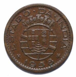 1958, India Portuguese, 10 Centavos, Republic, Bronze, EF, KM# 30, Lot [142]