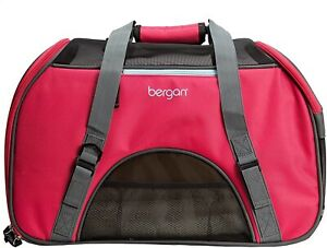 NEW Bergan Comfort Carrier for Pets Berry Red For Small Pets Airline Approved