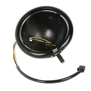 "5.75"" Headlight Black Housing Bucket & Wire Harness For Harley Davidson Models"