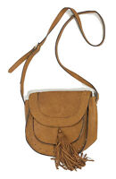 Steve Madden Crossbody Purse Shoulder Bag Brown Faux Leather Tassel