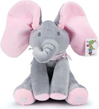 Baby Peek A Boo Animated Singing Elephant Plush Toy