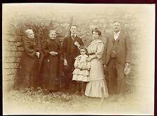 photo ancienne . une famille de Forbach . 1904