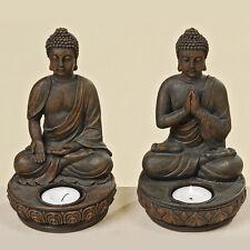 Teelichthalter Buddha Dekobuddha Dekofigur Betend 19x11x11 Cm