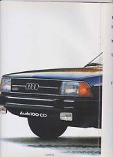 1979 AUDI 100 CD Range German 18p Brochure in English & 5E Australian Supp C2