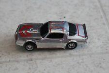 NICE VINTAGE HO SCALE TYCO CHROME & RED FIREBIRD SLOT CAR