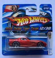 2006 Hotwheels Dodge Viper SRT10 Orange Mint, Carded