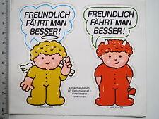 Aufkleber Sticker Hörzu Figuren Engel Teufel Strassenverkehr (M1933)