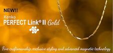 "Nikken Kenko Perfect Link II Magnetic 18"" Gold Necklace NIB"