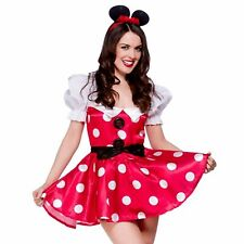 Adults Ladies Sexy Naughty Minnie Mouse Fancy Dress Costume Outfit UK 10-12