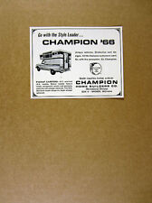 1966 Champion Pickup Truck Camper photo vintage print Ad