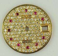 18K GOLD DIAMOND DIAL WITH RUBY MARKERS FOR ROLEX 6917 69173(8) CAL.2030 2135