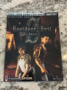 Resident Evil Zero BradyGames Official Strategy Guide Signature Series w/ Poster