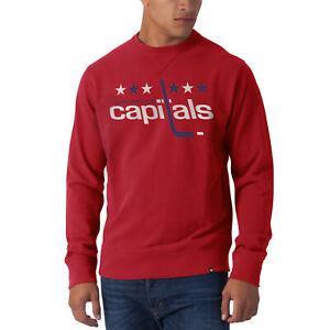 NHL Washington Capitals Sweater Co Sign Crew Slim Jet Sweatshirt Jumper