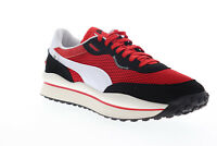 Puma Style Rider Stream On 37152701 Mens Red Mesh Lifestyle Sneakers Shoes