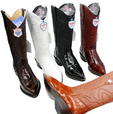 Men's Wild West Real Genuine eel Skin J Toe Western Cowboy Boots Only $139.99