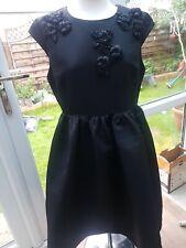 Joanie Vestido De Té Negro Estilo Vintage Con Frontal detallado. Nueva con etiqueta. Talla 16