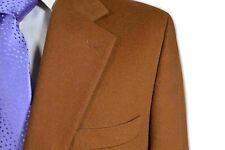 $1495 Grant Thomas 100% Cashmere Dark Camel 2 Button Sport Coat size 41S C172