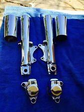 Harley Evo All Touring FLH CHROME SLIDERS , CALIPERS ,COW BELLS 1999 AND OLDER