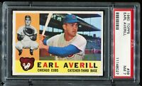 1960 Topps Baseball #39 EARL AVERILL Chicago Cubs PSA 7 NM