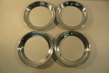 """14"""" Beauty Rings Hubcaps 1940's 1950's Chevy Ford Buick Chrysler Mopar Accessory"""