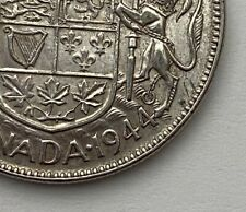 CANADA 1944 WIDE DATE  50 CENTS KING GEORGE VI .800 SILVER C7