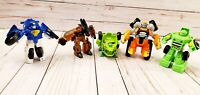 Lot Of 5 TRANSFORMERS Robots In Disguise 1-Step Changers Rescue Bots Playskool