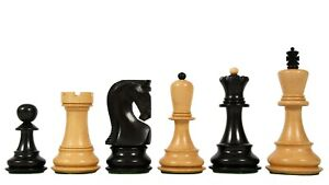 Exclusive Russian Zagreb Dyed Chess Pieces in Ebonized Boxwood & Natural Boxwood