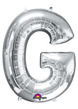 Large Silver Letter G Helium Balloon