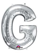 Grandi dimensioni color argento lettera G palloncino elio