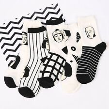Cool Japanese Punk Figure Striped Cartoon Socks Line Anime Harajuku Comfortable