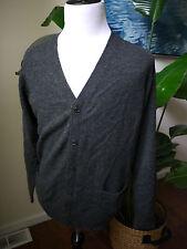 uniqlo gray 100% wool sweater cardigan XL