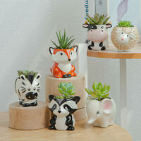 Animal Head Vase Flower Pot Plant Pot Statue Decor Florist Home Decoration Gift