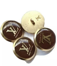 Lot Of Four (4) Brown Gold LV Classic Buttons, 17mm