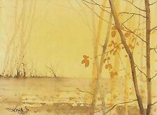 watercolor painting aquarelle original  Picture288(21x15)cm PL