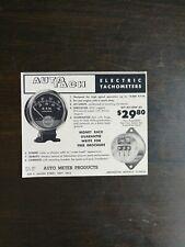 Vintage 1959 Auto Meter Products Auto Tech Electric Tachometers Original Ad
