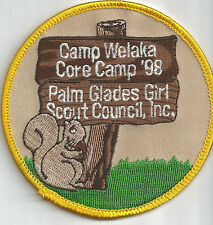 Palm Glades Girl Scout Camp Patch - Welaka '98 (now GS of Southeast Florida)