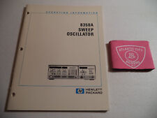 HEWLETT PACKARD HP 8350A SWEEP OSCILLATOR OPERATING INFORMATION - (08350-90001)